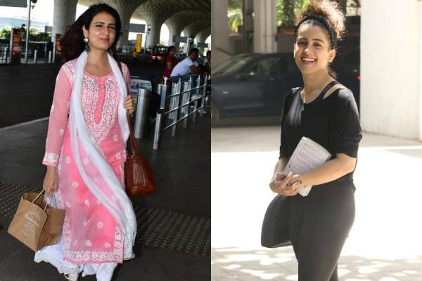 sanya malhotra and fatima sana shaikh spotted