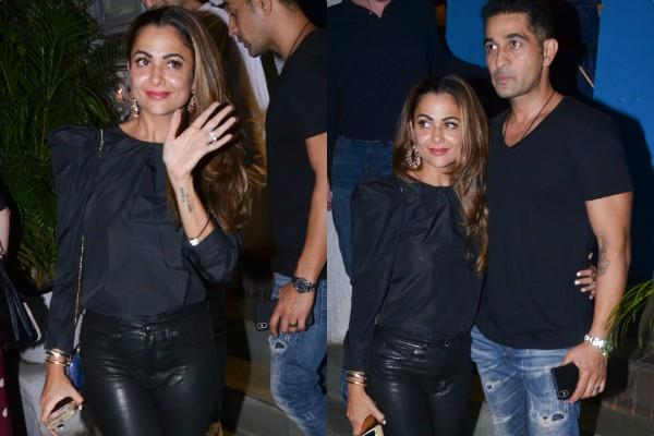 amrita arora spotted at dinner date with husband shakeel ladak