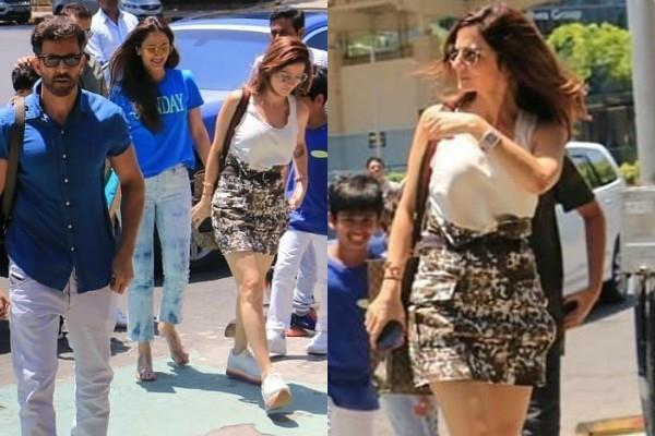 hrithik roshan at lunch date with sussanne khan