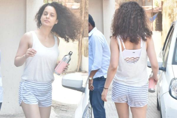 kangana ranaut spotted at gym