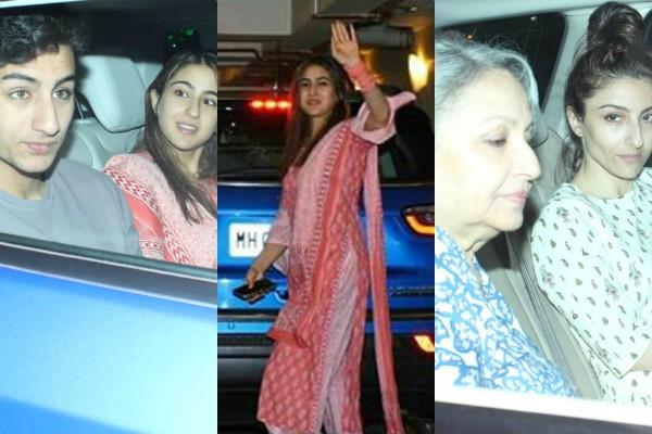 sara ali khan spotted with brother ibrahim