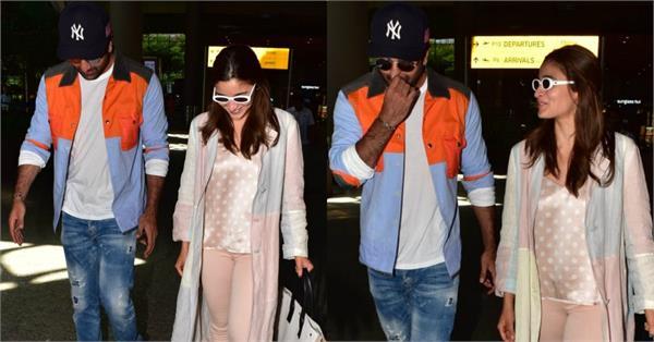 ranbir kapoor alia bhatt spotted at mumbai airport