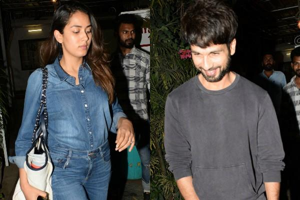 shahid kapoor mira rajput spotted at gym