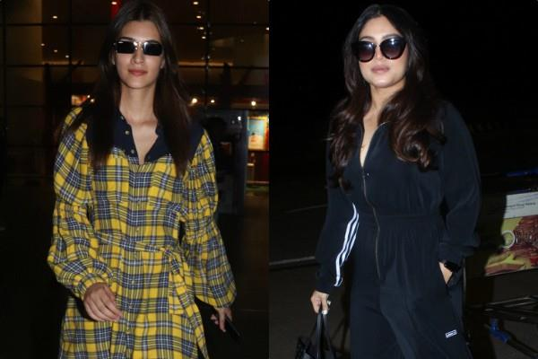 kriti sanon bhumi pednekar spotted at airport