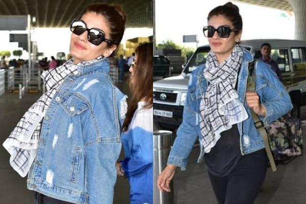 raveena tandon airport pictures