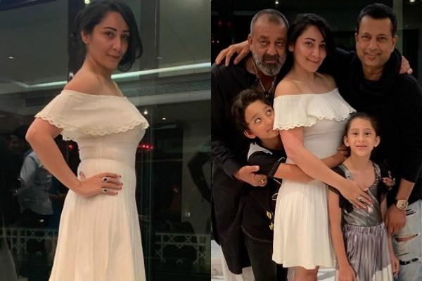sanjay dutt night out with family and friends