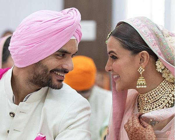 neha dhupia shares an unseen wedding video