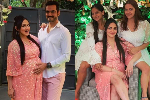 esha deol baby shower party pictures