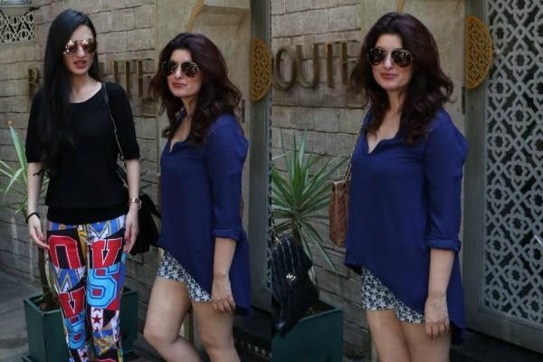 twinkle khanna spotted with anu dewan