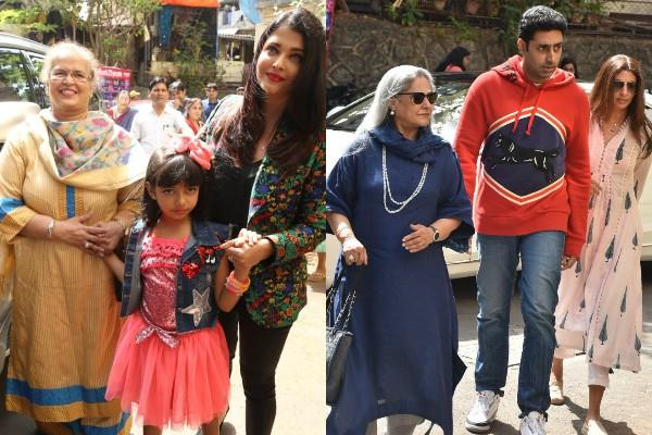abhishek aishwarya and shweta nanda cheer for aaradhya at dance performance
