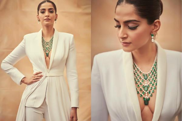 sonam kapoor looks gorgeous in white outfit
