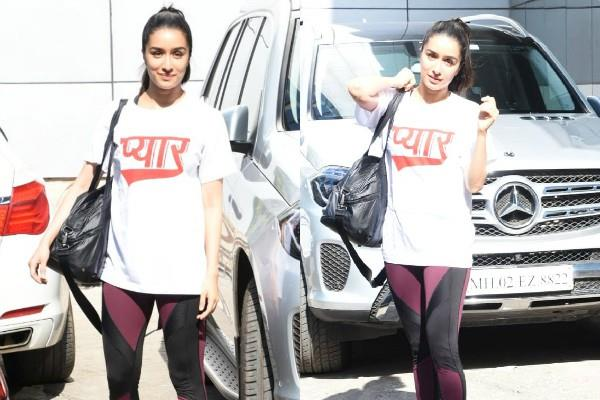 shraddha kapoor spotted at gym