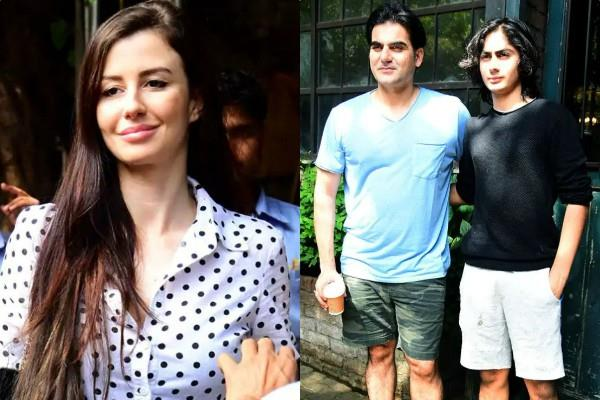 arbaaz khan spotted at lunch date with arhaan khan giorgia andriani