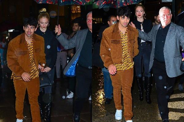 joe jonas night out with wife sophie turner