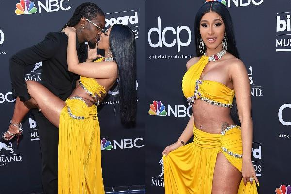 cardi b bold look at billboard music award 2019
