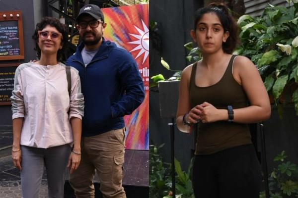 aamir khan recently pictures with family