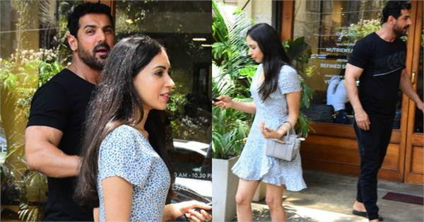 john abraham latest pictures with wife priya runchal