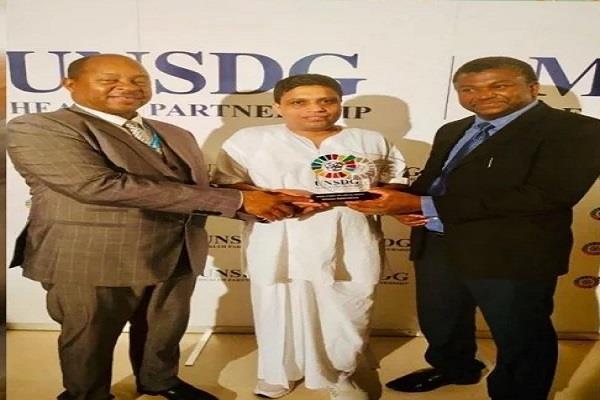 balkrishna returns to uttarakhand after getting award