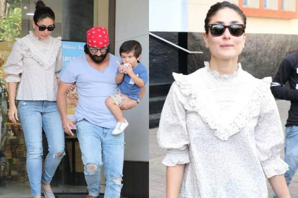 taimur spotted with saif kareena outside restaurant