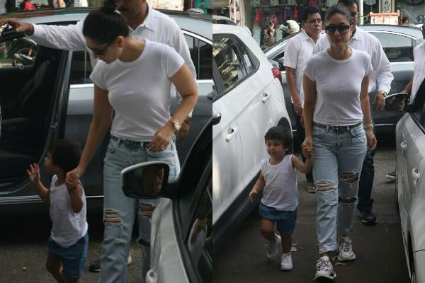 kareena kapoor khan spotted with son taimur ali khan