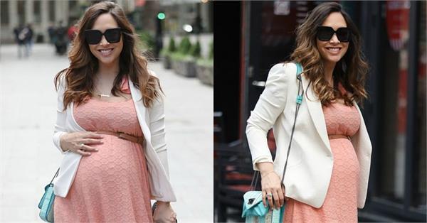 लंदन की सड़कों पर बेबी बंप फ्लॉन्ट करती दिखीं माईलीन, 41 की उम्र में तीसरी बार बनेंगी मां