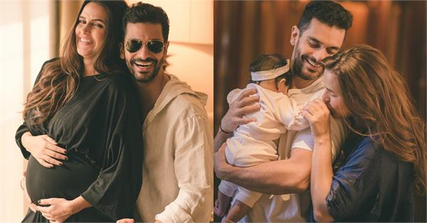 neha dhupia share a cute picture with angad bedi mehr