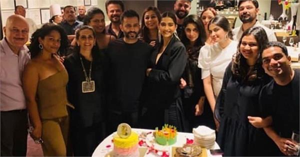sonam kapoor celebrate her birthday with husband anand ahuja and family