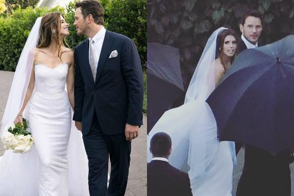 chris pratt recently got married with katherine schwarzneger
