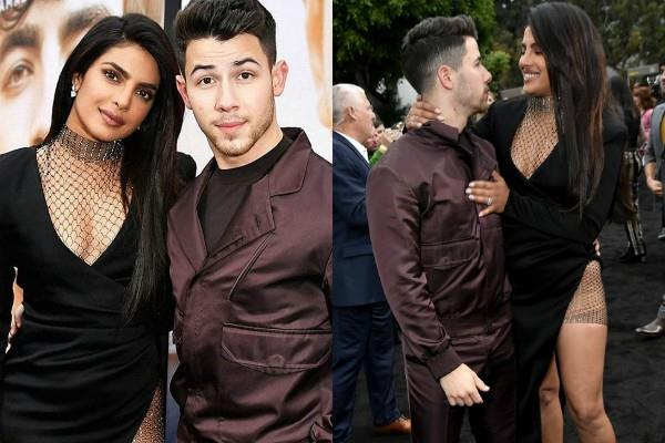 priynanka chopra nick jonas at chasing happiness premiere