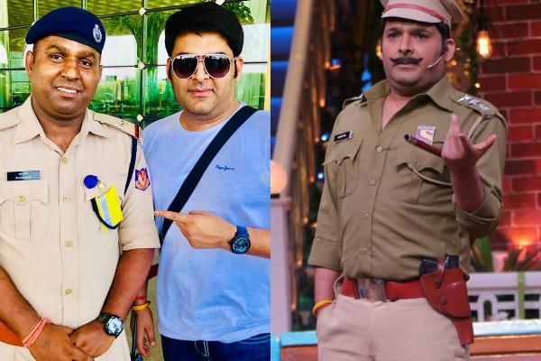 kapil sharma meet real life inspector shamsher