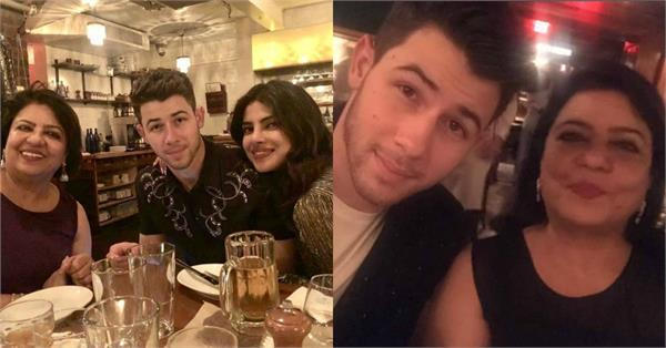 priyanka celebrate mom madhu birthday with husband nick in boston