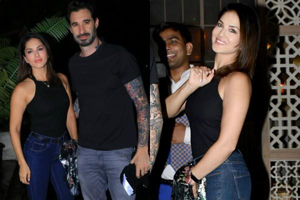 sunny leone dinner date with hubby daniel weber