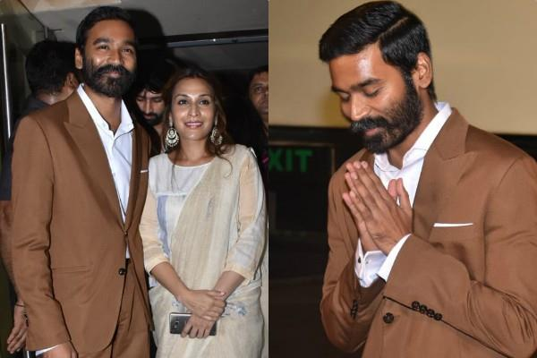 rajinikanth daughter aishwarya r dhanush with husband dhanush