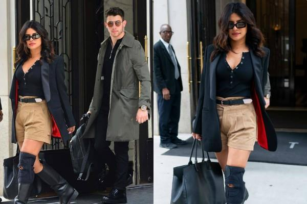 priyanka chopra looks stunning as she goes out with husband nick jonas