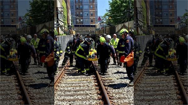 nine hospitalized in boston subway derailment