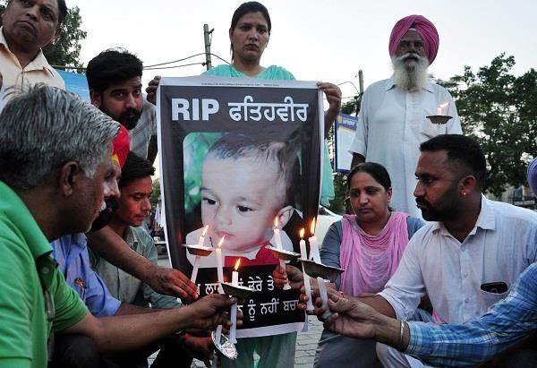 candle march for fatehveer