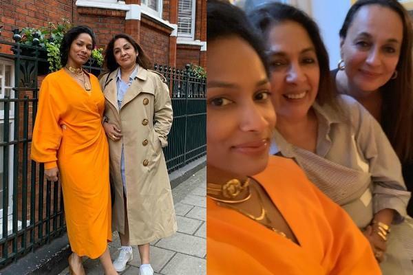neena gupta celebrate her 60th birthday with daughter masaba in london