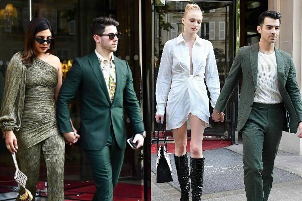 priyanka chopra nick jonas sophie turner joe jonas dinner date in paris