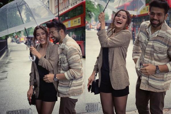 asha negi rithvik dhanjani get cosy on london street