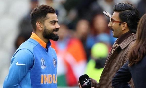 bollywood star ranveer singh has written a beautiful message to captain kohli