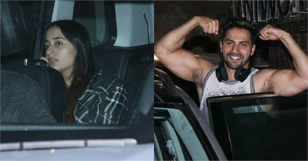 varun dhawan spotted outside gym with girlfriend natasha dalal