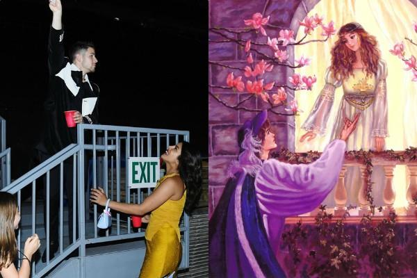priyanka chopra nick jonas recreate the romeo juliet moment