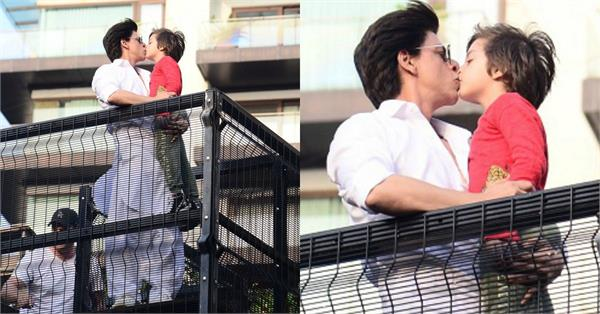 shahrukh khan trolled on social media to kissing son abram