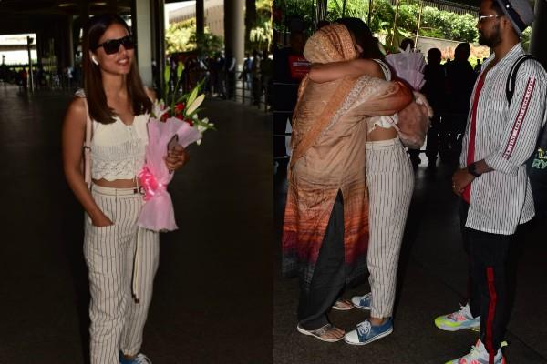 hina khan spotted at airport with boyfriend rockey jaiswal