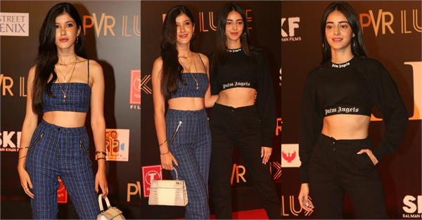 ananya panday shanaya kapoor attend special screening of bharat