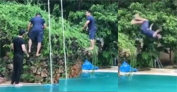 salman khan back filp video viral