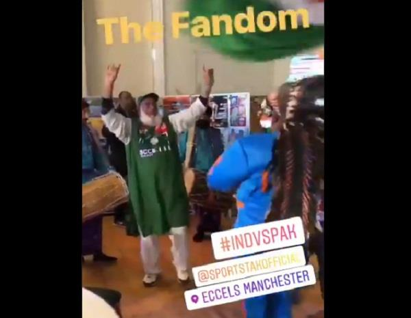 fans played conch shells before indo pak match uncle fired bhangra