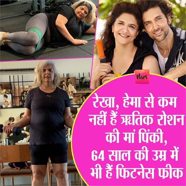 hrithik roshan s mom pinky s fitness video viral