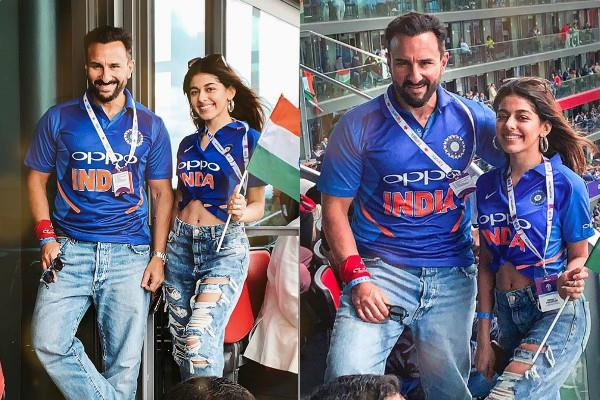saif ali khan alaia furniturewala was attending the match in london