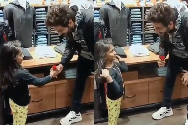 kartik aaryan share a cute video of little fan giving him red rose
